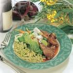 Flageolets aux côtelettes d'agneau sauce muscat