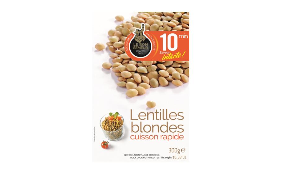 Précuits 10 min : Lentilles Blondes