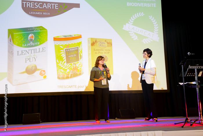 Trophée RSE reçu au Salon Carrefour des PME et de l'Innovation