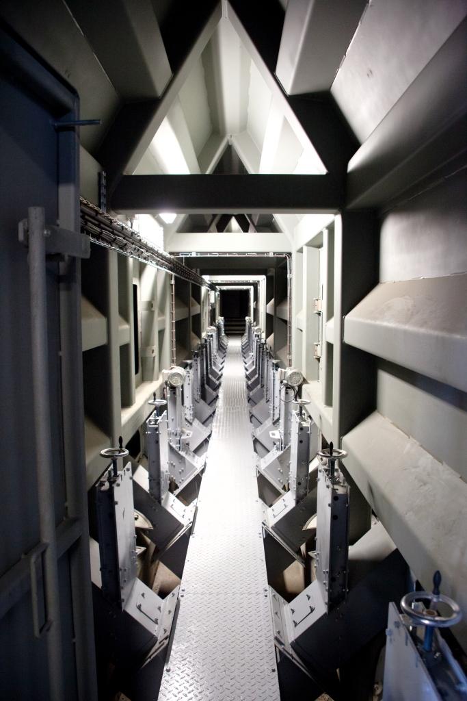 Cellules de stockage du nouveau silo